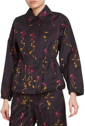 Dries Van Noten Floral-Print Cotton Jacket