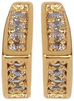 Gorjana 18K Yellow Gold Cress Shimmer CZ Stud Earrings