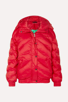 Perfect Moment Oversized Quilted Jacket - Red