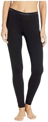 Icebreaker 200 Oasis Merino Base Layer Leggings (Black) Women's Casual Pants