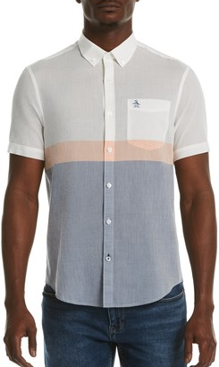Original Penguin Colorblock Lawn Short Sleeve Heritage Fit Shirt