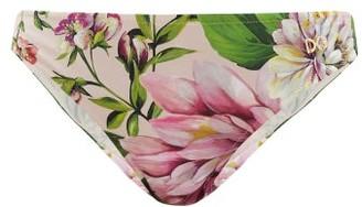 Dolce & Gabbana Rose-print Bikini Briefs - Pink Print