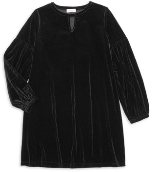 Design History Little Girl's & Girl's Long-Sleeve Velour Dress