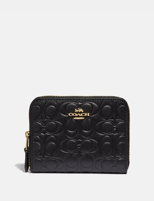 Coach Small Zip Around Wallet In Signature Leather