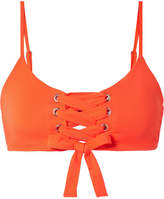 Mara Hoffman Scarlett Lace-up Bikini Top - Bright orange