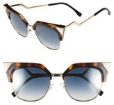 Fendi Women's 54Mm Metal Tipped Cat Eye Sunglasses - Black