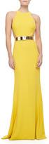 Stella McCartney Sleeveless Golden-Belt Gown