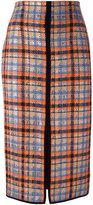 MSGM front slit checked skirt - women - Polyamide/Polyester/Wool - 40
