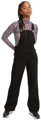 Levi's(r) Premium High Loose Cozy Overalls (Cozy Black) Women's Overalls One Piece