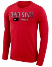 Nike Men's Ohio State Buckeyes Core Soccer Long-Sleeve T-Shirt