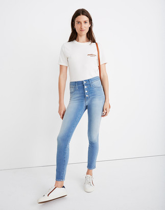 Madewell Tall Roadtripper Jeggings in Berrington Wash: Button-Front Edition