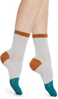 Hysteria By Happy Socks Liz Metallic Colorblock Ankle Socks