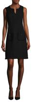Karl Lagerfeld Fringed Crewneck Dress