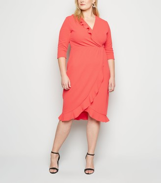 New Look Just Curvy Frill Wrap Dress