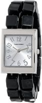 Vernier Women's VNR11115BK Black Square Bead Expandable Watch