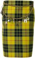 Balenciaga Tartan Pencil Skirt