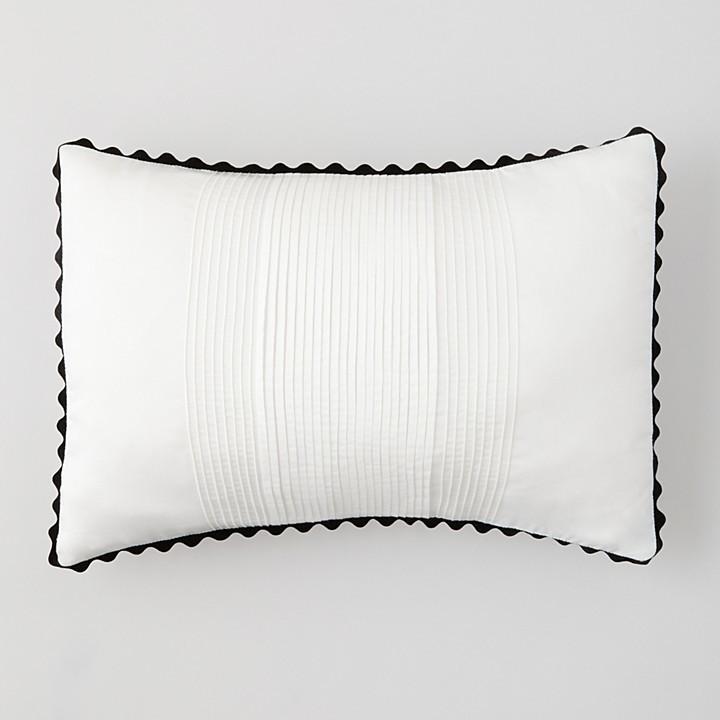 "Vera Wang Pom Pom Pleats Pillow, 15"" x 20"""