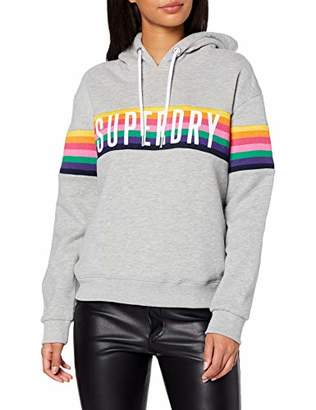 Superdry Women's Carly Carnival Hood Hoodie, (Pebble Grey Marl D1h), (Size: 10)