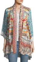 Johnny Was Betimo Embroidered Printed Kimono, Plus Size
