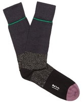 Paul Smith Shoes & Accessories Colour-block Cotton-blend Socks