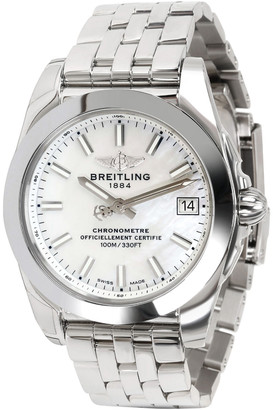 Breitling MOP Stainless Steel Galactic 36 W7433012/A779 Women's Wristwatch 36MM