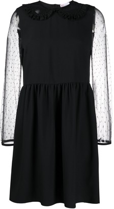 RED Valentino Sheer Panel Dress