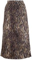 Rochas leopard print midi skirt - women - Polyamide/Alpaca/Virgin Wool - 40