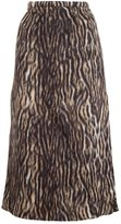 Rochas leopard print midi skirt