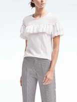 Banana Republic Ruffle-Front Couture Tee