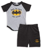 Batman Baby's Two-Piece Bodysuit & Shorts Set