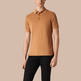 Burberry Silk Cotton Polo Shirt, Brown