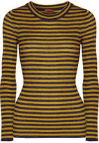 Missoni Striped Metallic Ribbed-knit Sweater - Yellow