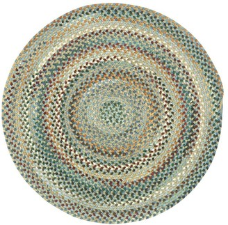 Pottery Barn Seward Round Braided Rug - Violet Multi
