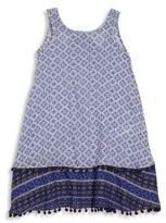 OndadeMar Little Girl's & Girl's Geometric Shift Dress