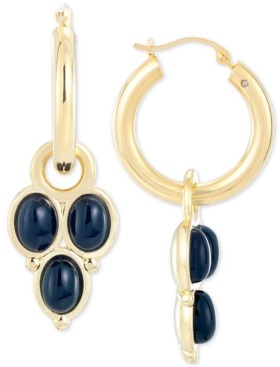 Signature Gold Onyx Drop Earrings in 14k Gold Over Resin, Created for Macy's