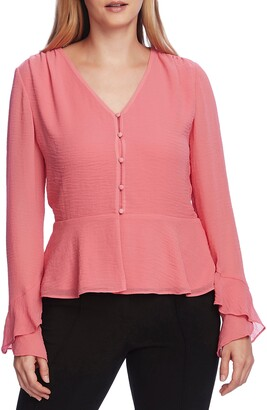 Vince Camuto Long Chiffon Sleeve Blouse