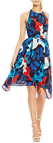 Antonio Melani Flora Printed Silk Dress