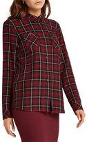 BCBGeneration Plaid Patterned Button-Up Shirt