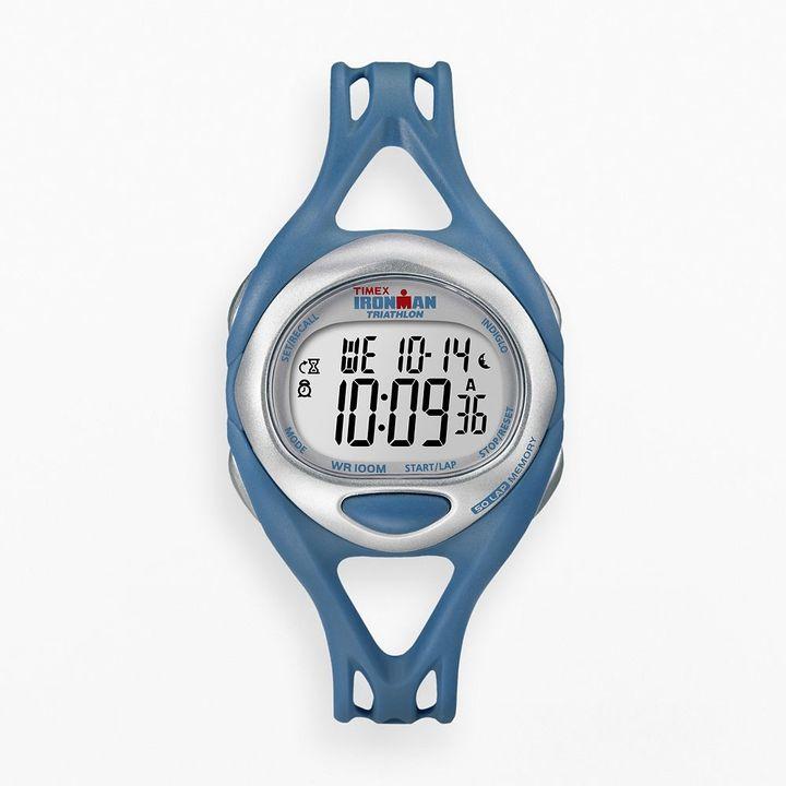 Iron Man Timex ironman sleek 50-lap blue resin digital chronograph watch - t5k760 - men