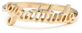 Lena Wald Personalized Gold Ring in Yellow Gold, Size 4