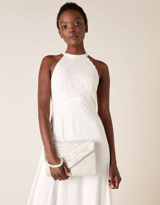 Monsoon Embellished Envelope Bridal Clutch Bag