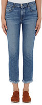 3x1 Women's W3 Straight Authentic Crop Jeans-BLUE