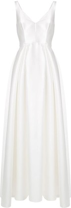 Alberta Ferretti V-neck sleeveless gown