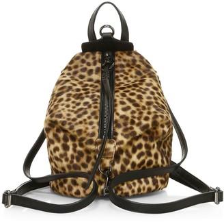 Rebecca Minkoff Mini Julian Leopard-Print Calf Hair Backpack