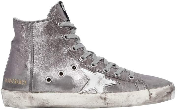 Golden Goose 20mm Francy Metallic Leather Sneakers