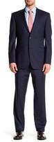 Ike Behar Positano Blue Plaid Two Button Notch Lapel Suit