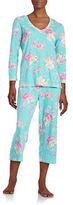 Miss Elaine Floral Cropped Pajama Set
