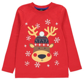 George Christmas Reindeer Long Sleeve Top