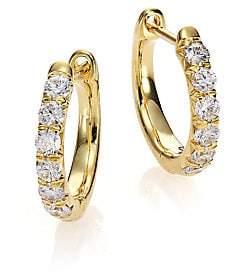 "Jude Frances Women's Jude Diamond & 18K Yellow Gold Huggie Hoop Earrings/0.5"""