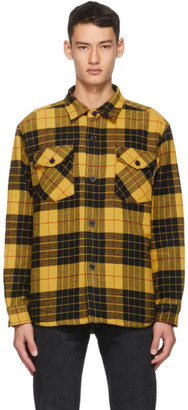 Noon Goons Black and Yellow Flannel Tartan Mullen Shirt